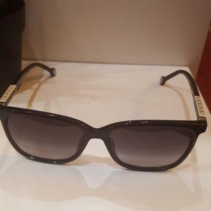 CH Carolina Herrera Black/Purple Square Sunglasses